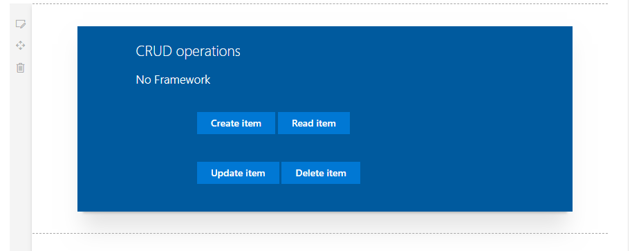 SharePoint Framework - CRUD operations using No Framework