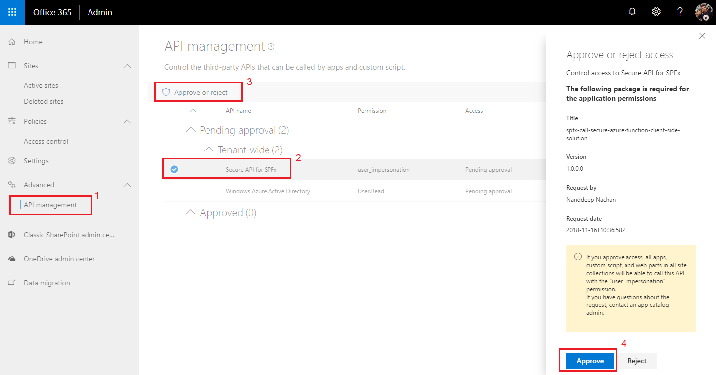 SharePoint Framework – Call Azure AD Secured Function
