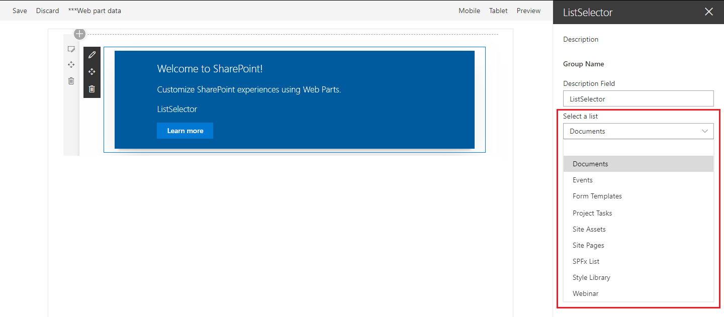 PnP Property Pane Controls for SharePoint Framework