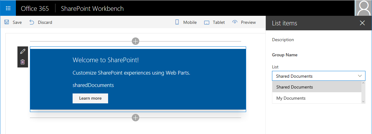 SharePoint Framework – Build Custom Controls for Web Part Property Pane