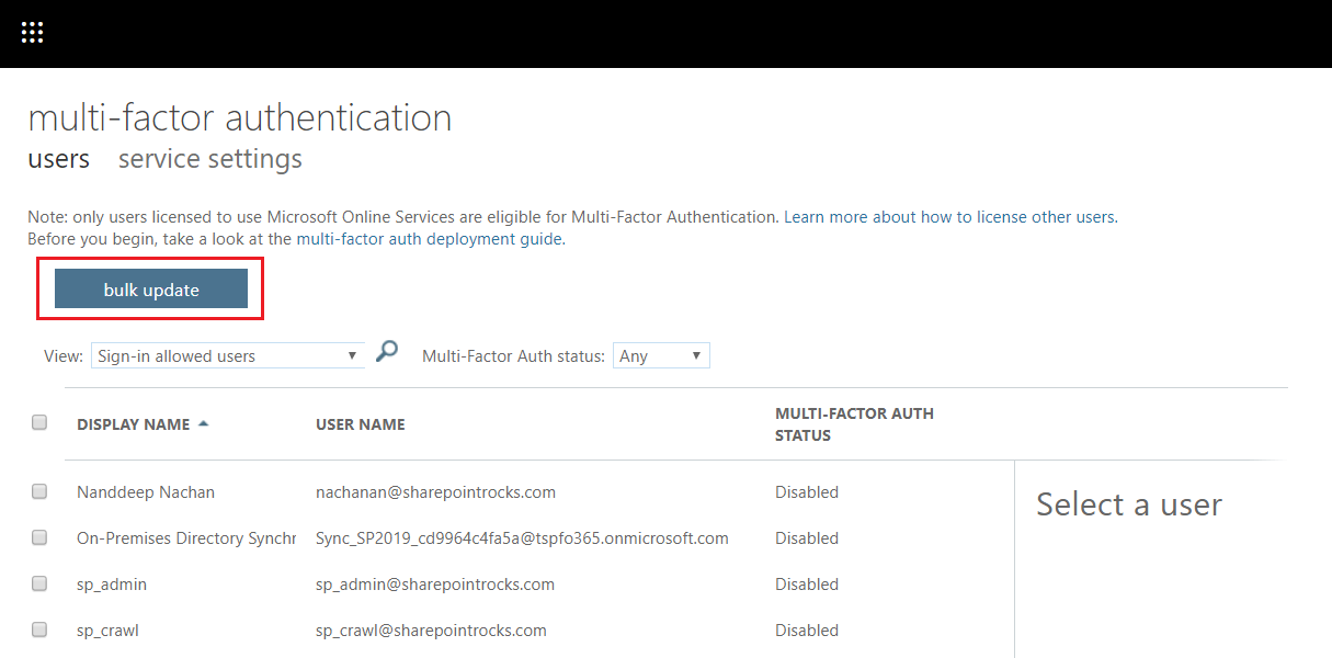 Configure Multi-Factor Authentication (MFA) for Office 365