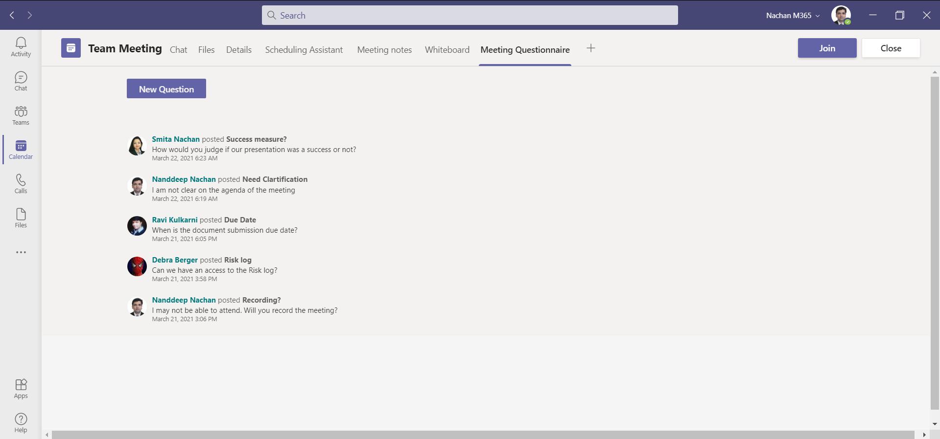 Questionnaire Preview
